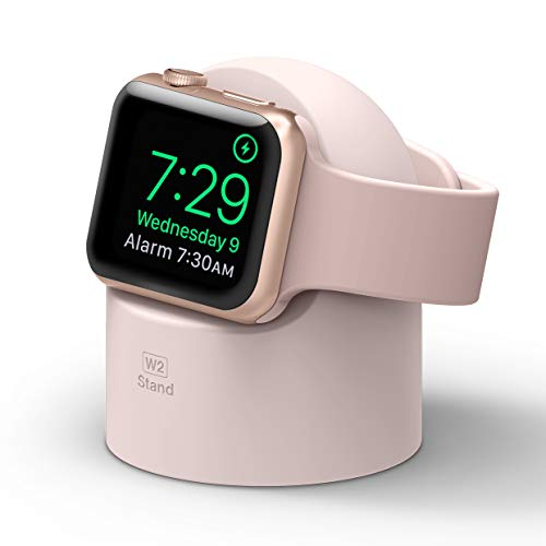 elago W2 Apple Watch Charger Stand Compatible with Apple Watch Series 6/SE/5/4/3/2/1 (44mm, 42mm, 40mm, 38mm) (Lovely Pink)