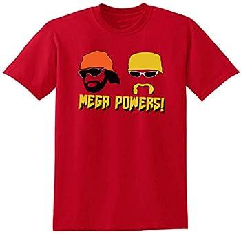RED Hogan Macho Man Mega Powers T-Shirt Adult