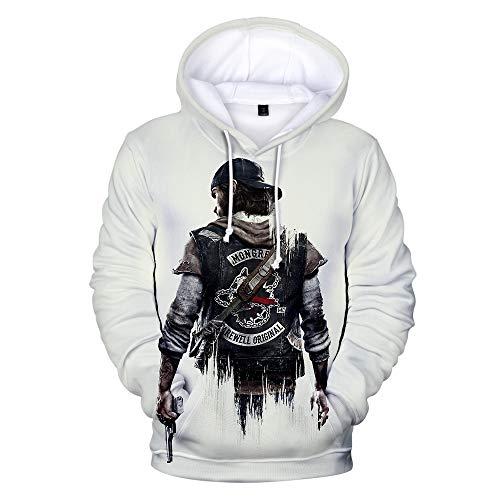 3D Sudadera con Capucha HD Hoodie Unisex Sweater De La Capa De Impreso Arte Tops Pullover Cosplay Days Gone XXS-3XL