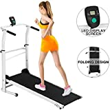DATEWORK Treadmill, Folding Manual Treadmill,Jogging Walking Running Exercise Machine, Portable Cardio Fitness Exercise Incline Home Running Machine