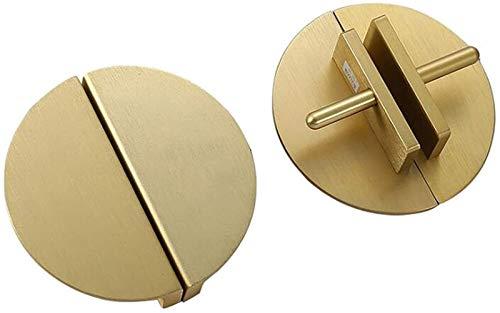 GIAOYAO 2 pares de mango de estilo europeo moderno mango dorado gabinete del cajón manija de la puerta de guardarropa de la manija de semicírculo antiguo manijas de aleación de aluminio (tamaño: 10 cm