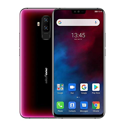 Unlocked Cell Phones Smartphones T2, Global Dual 4G, 6GB+128GB, Dual Back Cameras, Face ID & Fingerprint Identification, 4200mAh Battery, 6.7 inch Android 9.0 MTK6771T Helio P70 Octa Core 64-bit up to