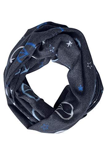 CECIL Damen 570943 Schal, Mehrfarbig (deep blue 30128), One Size (Herstellergröße:A)