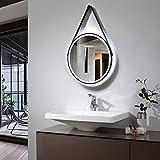 LED Lichtspiegel Badspiegel 2805 mit Spiegelheizung & Warm-/Kaltlichteinstellung - Rund Ø 60 cm