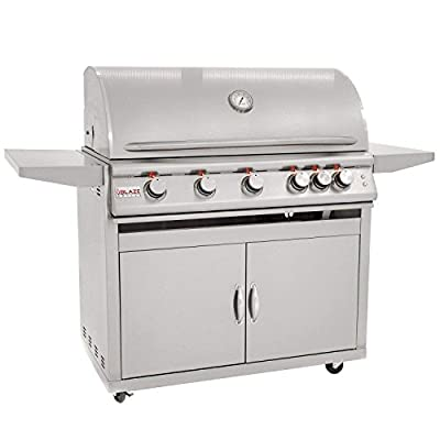 Blaze Freestanding Grill with Lights (BLZ-5LTE2-LP-BLZ-5-CART), 40-inch, Propane Gas