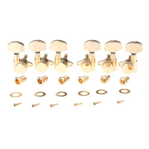Musiclily Pro 3R3L Locking Tuners Meccaniche Autobloccanti per Epiphone Les Paul Style, Dorato