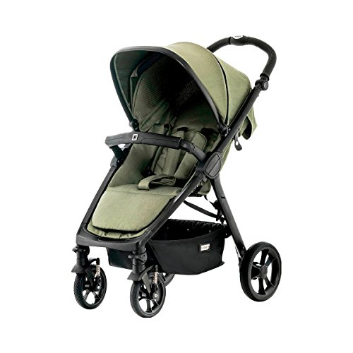 Moon 62780310-895 JET R City, olive/fishbone Kinderwagen, grün