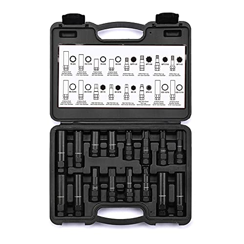 CASOMAN 16 Pieces Wheel Lock Removal Tool Kit SAE/Metric Locking Lug Nut Master Key Set for Removing Locking Lug Nuts