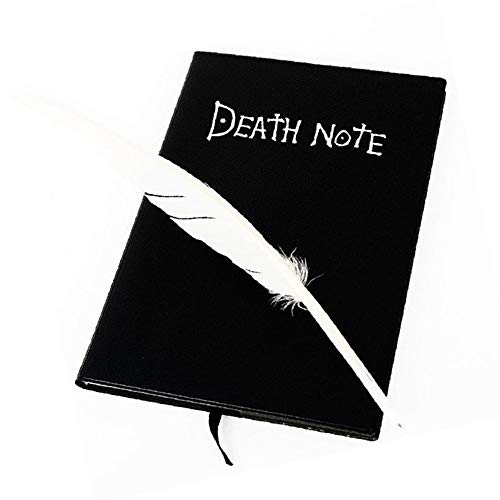 Ouken Anime Theme Death Note Notizbuch Cartoon Cosplay Rep mit Feather Quill Pen