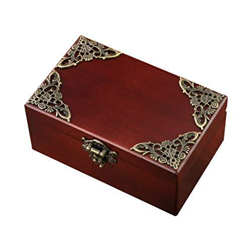 YIXIN2013SHOP Spieluhr Musical Box Schmuck Aufbewahrungs-Spieluhr, antike Spieluhr, Geburtstags for Freunde/Mutter Spieluhren Schmuckkästchen (Color : Natural)