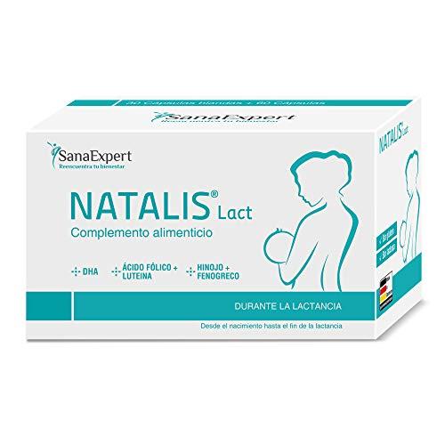 SanaExpert Natalis Lact   Suplemento para la lactancia con DHA, ácido fólico, hinojo y alholva (90 cápsulas).
