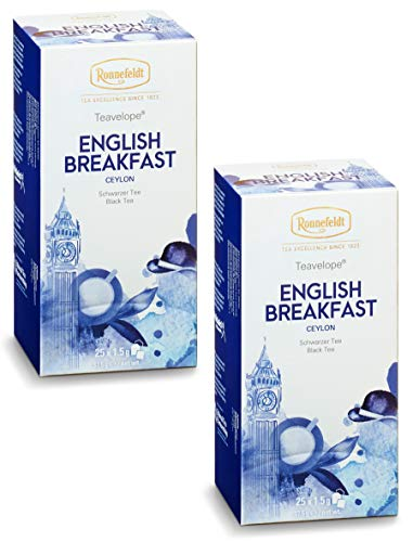 Ronnefeldt-Teavelope -2er Pack- English Breakfast - Schwarzer Tee - 2x25x1,5g Teebtl.