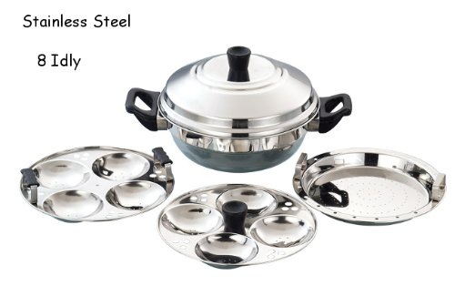Euro Style Tr031 Induction For Multi Kadai Idly Cooker-(8 Idly + 1 Steamer Plate)
