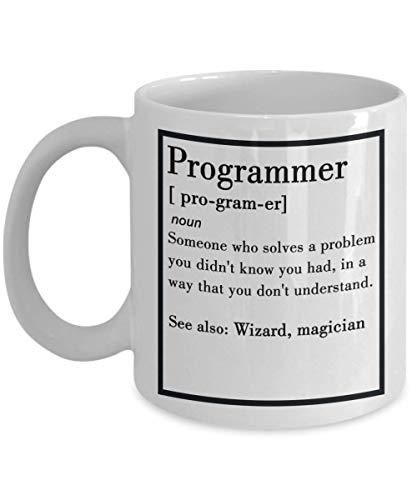 Thorea Lustiger Programmierer Nomen Definition Computer Programmierer Becher, Kaffeebecher - Android Entwickler Geschenk - Software Engineer Geschenke für Männer, Ihn, Ehemann von Frau für Vatertag od