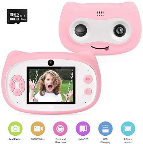 DDT Kinder Kamera 24MP Video-Digitalkamera 2.0 Zoll IPS HD 1080P Touchscreen & Unterstützt WiFi/Kleine Spiele Mit 16 GB TF-Karte Für Junge Mädchen Im Alter Von 3-12