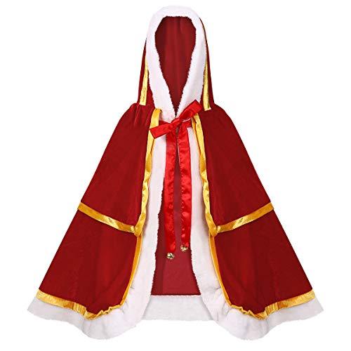KESYOO 1Pc Weihnachten Halloween Kostüme Umhang Samt Kapuze Umhang Robe Weihnachten Weihnachten Umhang für Frau Damen Mädchen (Durchschnittliche Größe)
