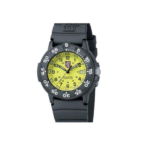 Luminox LU3005 - Reloj de caballero de cuarzo, correa de caucho, negro