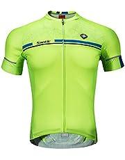 Santic Maillot Ciclismo Hombre Verano Maillot Bicicleta Montaña Bike MTB Camiseta con Mangas Cortas - Kamen