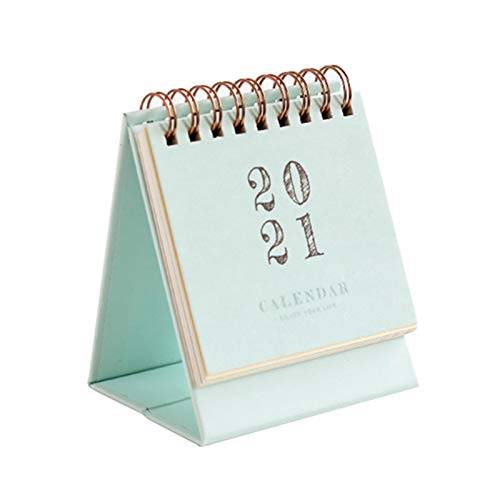 2021 Mini Desk Calendar Stand Up Flip Calendar Daily Monthly Schedule Table Planner Agenda Organizer for Home School Office Use