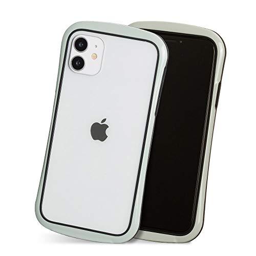 iPhone 11 ケース ソフト スマホ ケース かわいい シンプル クリア 透明 ポリカーボネート ストラップ Qi対応 カバー 「クリアシールド」 グレージュ iPhone11,3.グレージュ
