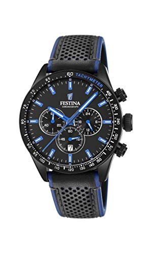 Festina Herren Chronograph Quarz Uhr mit Leder Armband F20359/3