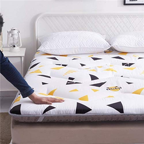 Tatami Japanese-style folding mattress Folding mattress for students Tatami dormitory Thick mattress for sleeping Single mattress for double child Carpet 90 × 200 cm-c