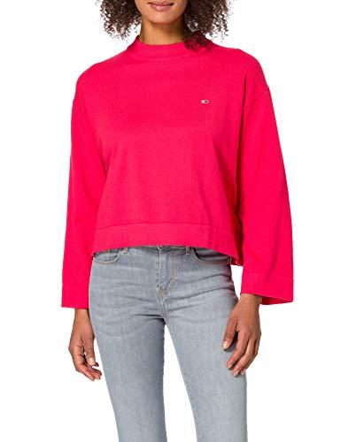 Tommy Jeans Damen Tjw Essential Sweater Pullover, Pink (Diva Pink), S