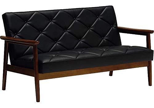 カリモク ソファ・2人掛け応接ソファ/WS11モデル/合成皮革張 長椅子