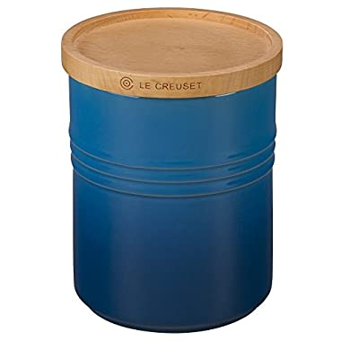 Le Creuset of America 5 1/2  Canister with Wood Lid, 2 1/2 quart, Marseille