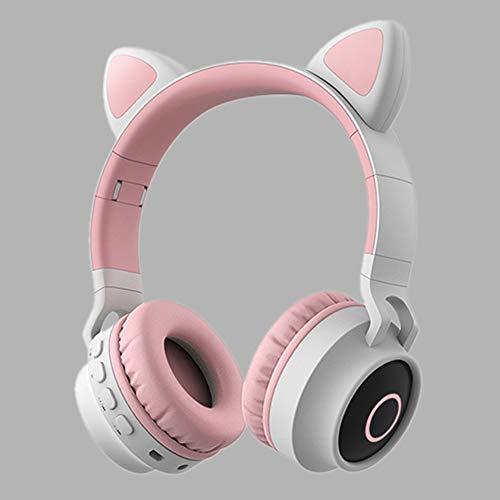 Gaming headsets surround sound noise cancelling kinderen kat meisje headset tablet computer schoolbenodigdheden led-licht verstelbare kinderen headset opvouwbare oor reizen verjaardag,5