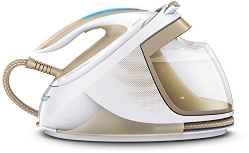 Philips PerfectCare Elite GC9640/60 Dampfbügelstation (2400 W, Optimal TEMP, 7 bar Dampfdruck, 480 g Dampfstoß) Weiß