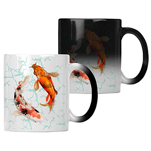 Pair Of Koi Fish Swimming Farbwechsel 33 cl Tasse gg527w