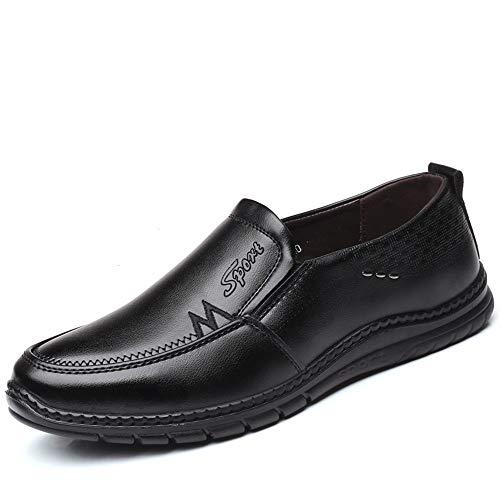 Vrijetijdsschoenen voor heren, business Oxford, Low Top eenvoudige pure kleur slip On Formal Shoes