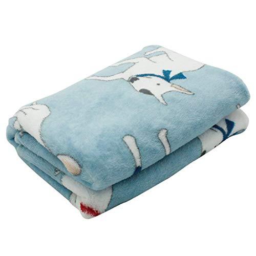 Lupeta Warm Weich Flanell Hundedecke Bullterrier Gedruckt Kuscheldecke Hunde Decke Sofa Decken Waschbar Matte für Hunde Welpen 100 * 70cm Blau