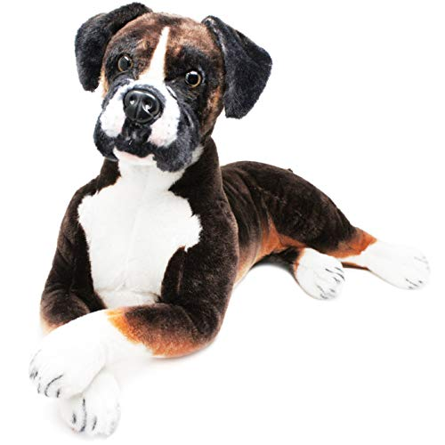 Bob The Boxer - Over 2 1/2 Foot Long Big Stuffed Animal Plush Dog - by Tiger Tale Toys