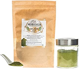 The Organic World Most Potent Plant on Earth - Pure Organic Moringa Leaf Powder- Green Super Food Supplements - The Ideal for Food deficienty and Malnourished - Management of weight balance - 150g by Zest Of Haiti Moringa products