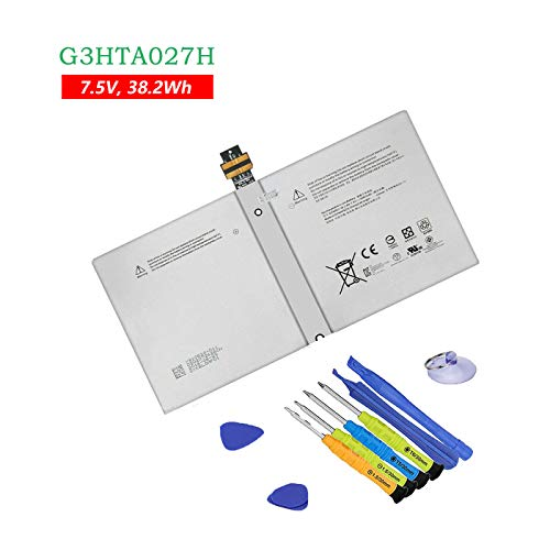 BOWEIRUI DYNR01 (7.5V 38.2Wh 5087mAh) Tablet Battery Replacement for Microsoft Surface Pro 4 1724 Tablet Series Notebook G3HTA027H