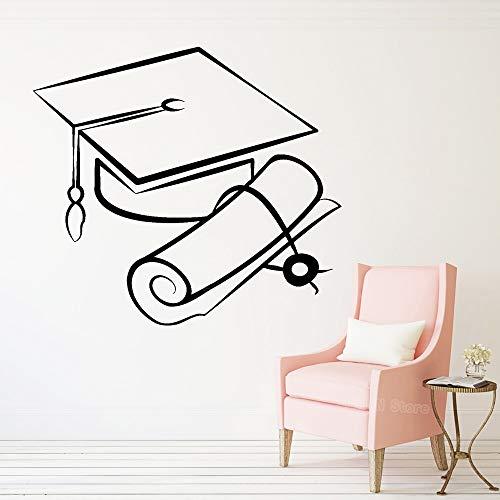 Tianpengyuanshuai Bachelor hoed vinyl wandtattoo slaapkamer universiteit wetenschap afneembare decoratie thuis