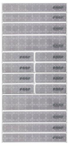 REER Le kit de réflecteurs autocollants accessoires pour Poussette, blanc