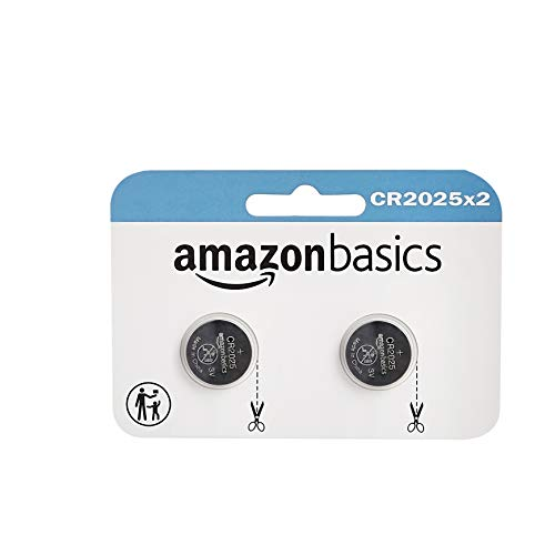 AmazonBasics CR2025 Lithium Coin Cell - Pack of 2