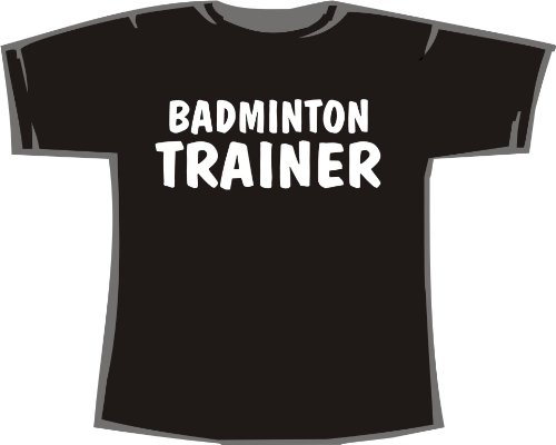 Badminton Trainer; T-Shirt schwarz, Gr. L