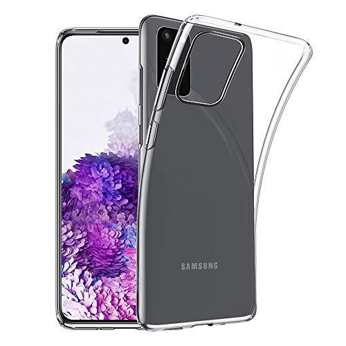 EONO von Amazon Klare Silikon Hülle kompatibel mit Samsung Galaxy S20, [Luftpolster] [Bildschirm- und Kameraschutz] [Ultra-dünn] Essential Zero Weiche Flexible TPU Hülle