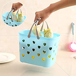 Storage Basket,TAOtTAO Basket for Storage Fashion Plastic for Bathroom Shower Basket (A):Dailyvideo