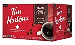 Dark Roast: Tim Hortons Dark is rich and full flavored with a smooth finish 100% Arabica: We only use beans sourced from the most renowned coffee growing regions of Central and South America Sustainability: Recyclable in select locations For Keurig B...