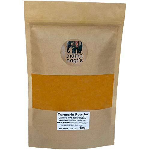 Ground Turmeric Powder 1kg (Curcumin Powder) - with Resealable Bag to Retain Freshness - by Mama Nagi's