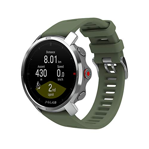 POLAR Grit X - Rugged Outdoor Watch with GPS, Compass, Altimeter and Military-Level Durability for Hiking, Trail Running, Mountain Biking and Other Sports - Ultra-Long Battery Life, Green, M/L