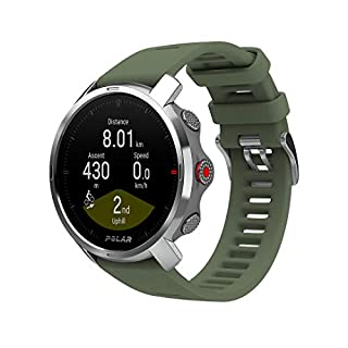 Polar Unisex's Grit X - Rugged Outdoor Watch with GPS, Compass, Altimeter and Military-Level Durability, Green, Medium/Large (B0876JR55C) | Amazon price tracker / tracking, Amazon price history charts, Amazon price watches, Amazon price drop alerts