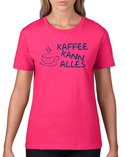 Comedy Shirts - Kaffee kann Alles - Damen T-Shirt - Sorbet/Lila Gr. XL