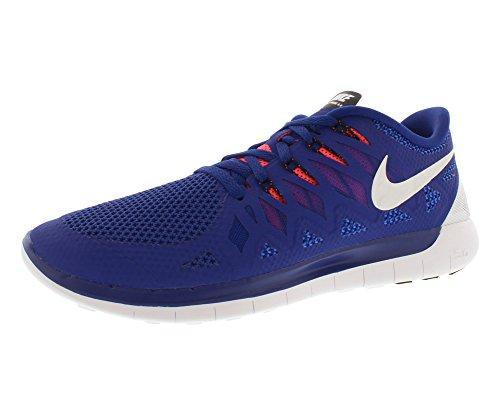 Nike Men's Free 5.0 Running Shoe Deep Royal Blue/Black/Hyper...