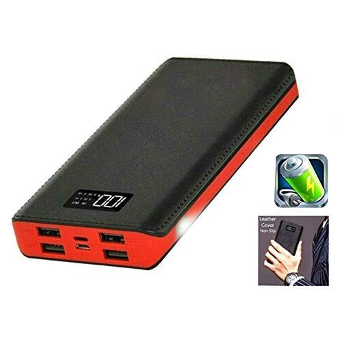 Draagbare powerbank 30000mah, 4-usb-poorten externe batterij powerbank lcd-scherm, voor smartphone